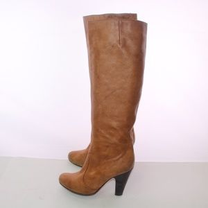 Dolce Vita Shoes - Dolce Vita Camel Pebbled Leather Knee High Boots